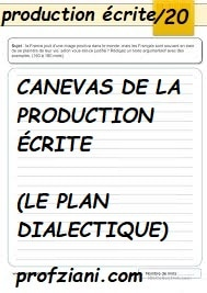 CANEVAS DE LA PRODUCTION ÉCRITE (LE PLAN DIALECTIQUE)